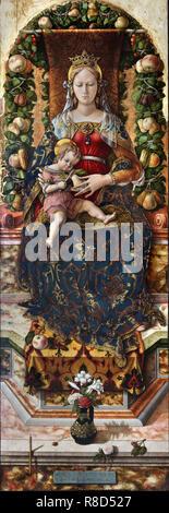 Madonna della candeletta, c1490. Trova nella collezione della Pinacoteca di Brera a Milano. Immagini Stock