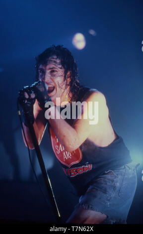 NINE INCH NAILS rock americano gruppo in aprile 1994 con Trent Reznor Immagini Stock