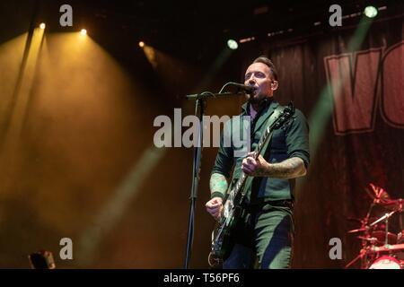 Aprile 20, 2019 - Milwaukee, Wisconsin, Stati Uniti - di Volbeat al Forum Fiserv a Milwaukee nel Wisconsin (credito Immagine: © Daniel DeSlover/ZUMA filo) Immagini Stock
