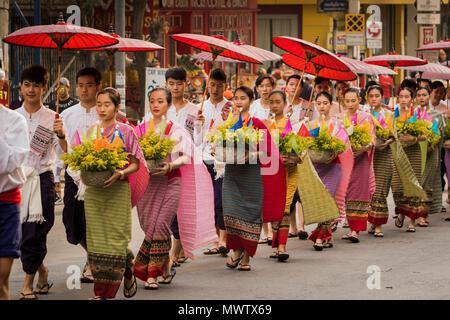 Chiang Mai Festival dei Fiori 2018, Chiang Mai, Thailandia, Sud-est asiatico, in Asia Immagini Stock