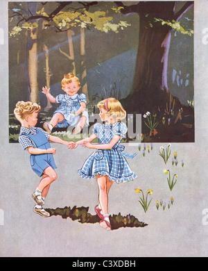 Un annuncio pubblicitario per Horrockses piroettare. Inghilterra, Regno Unito, 1951 Immagini Stock
