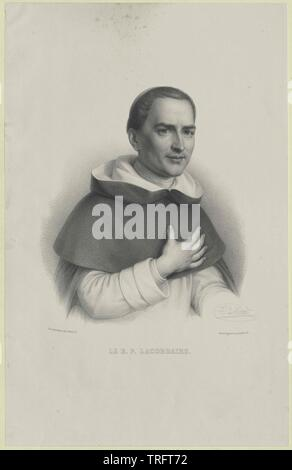 Lacordaire, Henri Dominique, Additional-Rights-Clearance-Info-Not-Available Immagini Stock