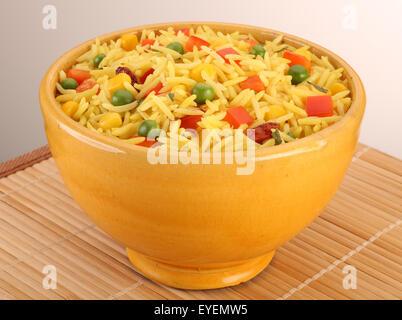 Limone asiatici il riso Basmati ciotola Immagini Stock