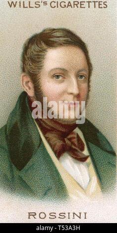 GIOACHINO Rossini (1792-1868) Italiano compositore operistico Immagini Stock