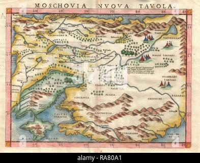 Cartina Muta Ucraina.1574 Ruscelli Mappa Di Russia Anatra Muta E L Ucraina Mosca Moskva Foto Stock Alamy