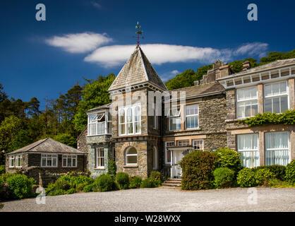 Regno Unito, Cumbria, Hawkshead, lungi Sawrey, Claife, Sawrey Knotts, metà casa di campagna vittoriana costruita nel 1866 dal capitano Cedric Dand Immagini Stock