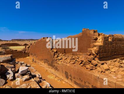 Terrazza centrale nel grande contenitore in Musawwarat es-sufra meroitic tempio complesso, la Nubia, Musawwarat es-Sufra, Sudan Immagini Stock