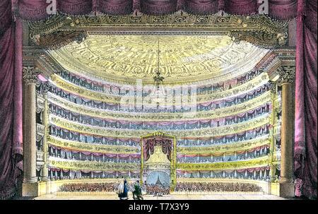 Il TEATRO ALLA SCALA DI MILANO, circa 1900 Immagini Stock