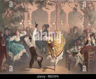 Le quadriglie à Bullier, 1870. Collezione privata. Immagini Stock