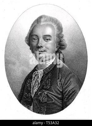 JEAN François de la Harpe (1739-1803) francese il drammaturgo e critico letterario Immagini Stock