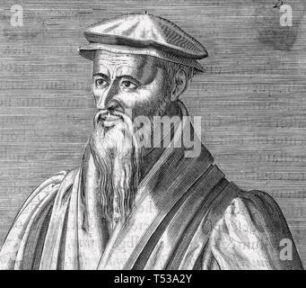 WILLIAM FAREL (1489-1565) francese riformatore protestante Immagini Stock