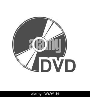 Semplice piatto icona di un disco DVD per la progettazione e l'esecuzione. Immagini Stock