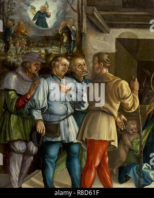 La Adorazione dei pastori, 1531. Presenti nella collezione di Bonnefantenmuseum Maastricht. Immagini Stock