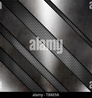 Abstract texture metallica sullo sfondo Immagini Stock