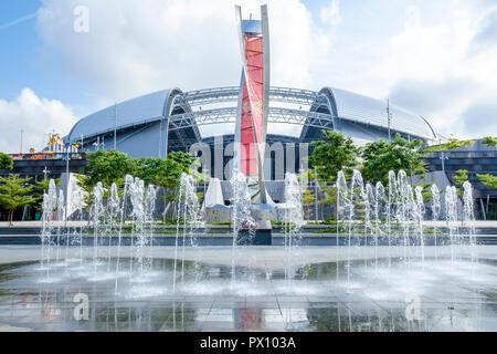 Lo Stadio Nazionale di Singapore Immagini Stock
