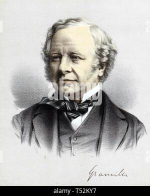 GRANVILLE LEVESON-GOWER, 2nd Earl Granville (1815-1891) liberale britannico più Immagini Stock