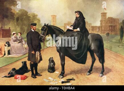 La regina Victoria a Osborne House England Regno Unito Immagini Stock