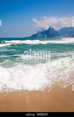 Il Brasile, Rio de Janeiro Ipanema beach da Aproador Immagini Stock