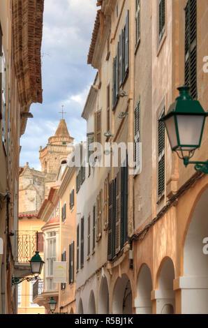 Isole Baleari Spagna, Menorca, Ciutadella, storico Centro Storico Immagini Stock