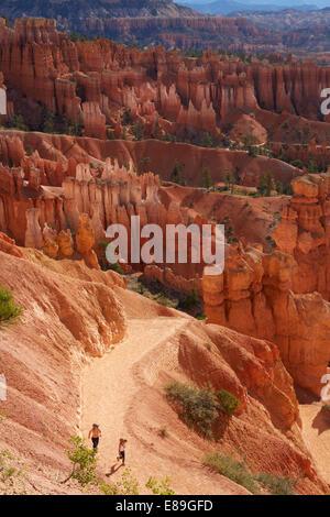 Bambini Escursioni nel Parco Nazionale di Bryce Canyon Immagini Stock