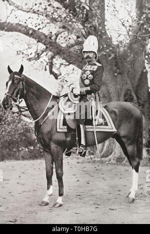 Lord Kitchener seduto sul cavallo, India, Asia Immagini Stock