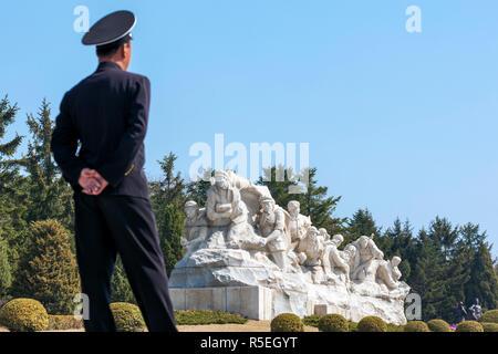 Popoli democratici la Repubblica di Corea (DPRK), la Corea del Nord, martiri rivoluzionari' cimitero Immagini Stock