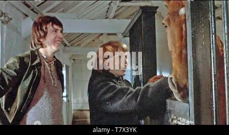 Vedere alcun male 1971 Columbia Pictures Film con Mia Farrow e Norman Eshley Immagini Stock