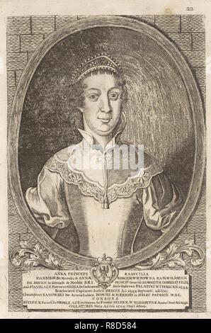 Anna Radziwill (Sadowski). Da: Icones Familiae Ducalis Radivilianae, 1758. Collezione privata. Immagini Stock