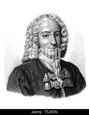 DANIEL Bernoulli (1700-1782) Svizzera matematico e fisico Immagini Stock