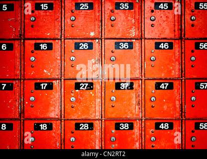 Caselle postali, Nuova Zelanda. Immagini Stock