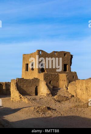 Abandonned mudbrick house, Stato settentrionale, Al-Khandaq, Sudan Immagini Stock