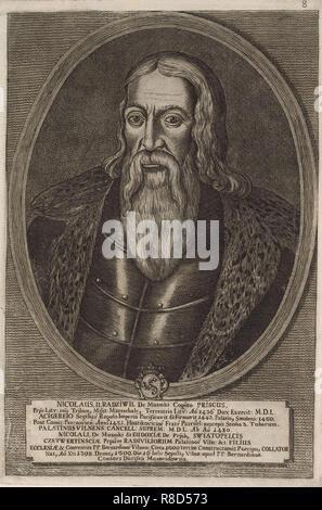 Nicolas II Radziwill il Vecchio (1450-1509 ca.). Da: Icones Familiae Ducalis Radivilianae, 1758. Collezione privata. Immagini Stock