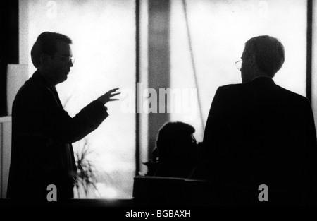 Fotografia di business man regno unito silhouette talk direttore di successo Immagini Stock
