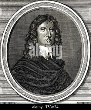 JAMES Harrington (1611-1677) inglese teorico politico Immagini Stock