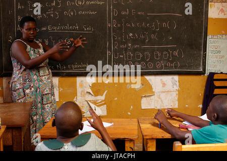 Mulago scuola per i sordi, gestito dalla Mulago Cattolica Comunità Spiritani, Uganda, Africa Immagini Stock