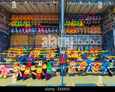 Stati Uniti d'America,New Jersey, Atlantic City, acciaio Pier Amusement Park, Giocattoli imbottiti Immagini Stock