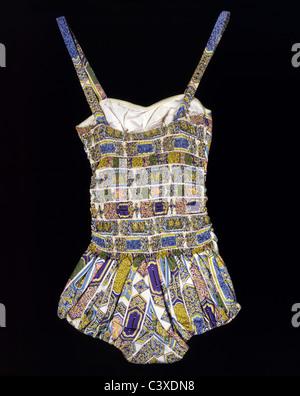 Costume da bagno, da bimba. Inghilterra, metà del XX secolo Immagini Stock