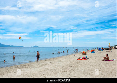 Un Bang Beach, Hoi An, Vietnam Immagini Stock