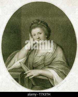 FRANCES Brooke (1724-1789) romanziere inglese, drammaturgo e traduttore. L'incisione sulla base di un ritratto di circa 1770. Immagini Stock