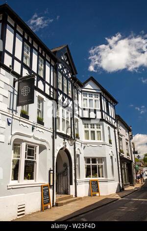 Regno Unito, Cumbria, York, Main Street, Black Bull Inn Hotel Immagini Stock