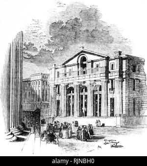 Una incisione raffigurante il Manchester filiale della Banca d'Inghilterra. Datata del XIX secolo Immagini Stock