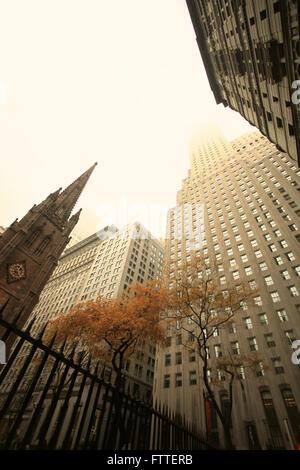 Il quartiere finanziario di edifici, New York Immagini Stock