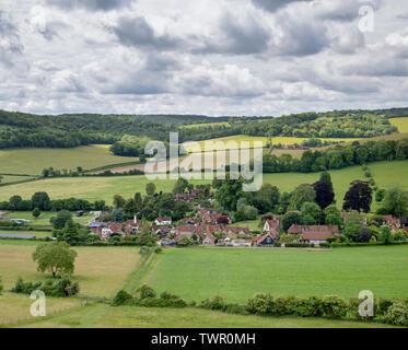 Turville villaggio nella Chiltern Hills. Buckinghamshire, Inghilterra Immagini Stock