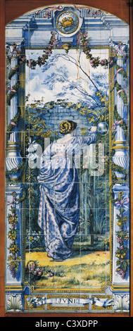 Giugno pannello di piastrelle, da Sir Edward Poynter. La Gran Bretagna, 1866 Immagini Stock
