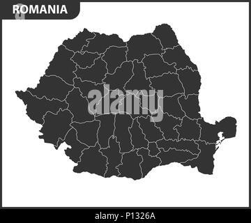 Cartina Dettagliata Romania.La Mappa Dettagliata Della Romania Con Le Regioni O Gli Stati Membri Divisione Amministrativa Immagine E Vettoriale Alamy