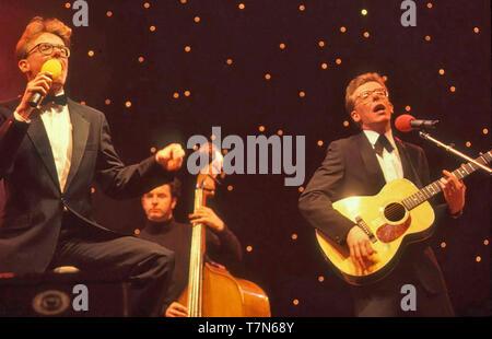 Annunciatori scottish pop duo circa 1988 Immagini Stock