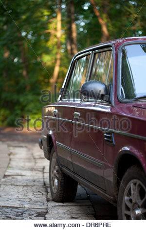 Auto d'epoca, Mosca, Russia Immagini Stock