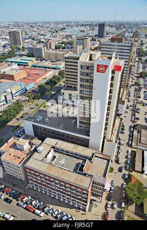 Vista sul centro di Lusaka, capitale dello Zambia. Immagini Stock