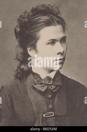 Nadezhda Prokofyevna Suslova (1843-1918), 1860s. Collezione privata. Immagini Stock
