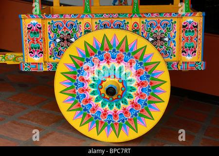 Sarchi,in Costa Rica, è famoso per il suo dipinto luminosamente,intricate decorate carri trainati da buoi che Immagini Stock